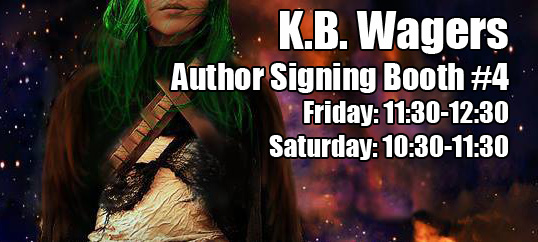 K.B. Wagers at Denver Comic-Con